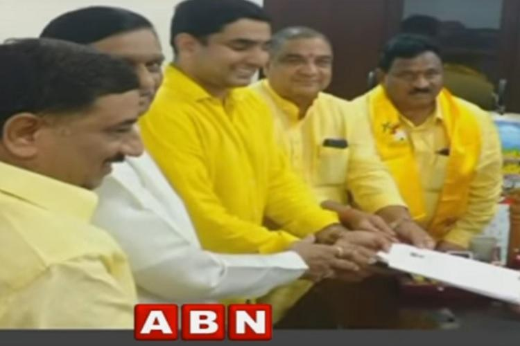 Will Andhra CMs son be inducted into cabinet Nara Lokesh files nomination for MLC seat