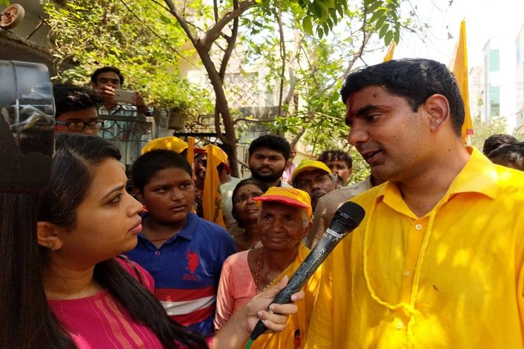 Politician with 40 years experience or one who spent 16 months in jail Nara Lokesh asks