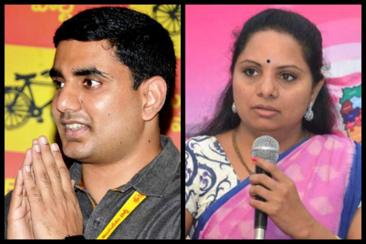TRS Kavitha takes TDP Lokesh head on We havent amassed wealth like them she says