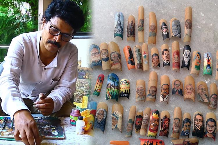 Video Meet the Hyderabad artist making beautiful paintings on his nails