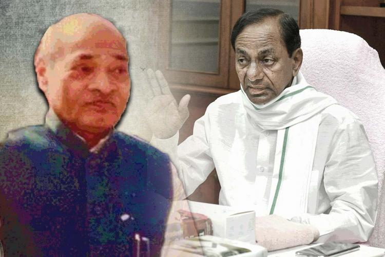 A collage of PV Narsimha Rao and KCR