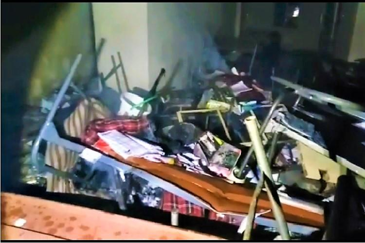 Irked at being denied holidays students vandalise Narayana Junior College in Hyderabad