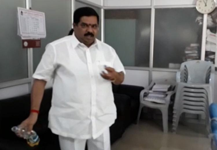 Caught on cam: Congress leader sprinkles petrol in Bengaluru office