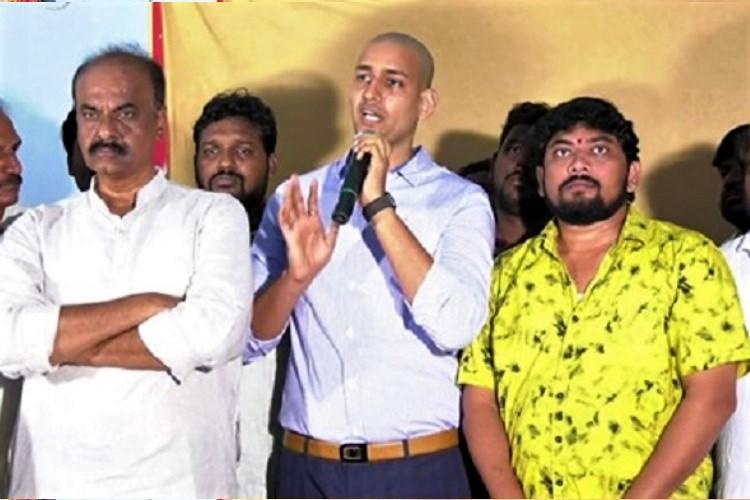 Andhra college director celebrates Pawan Kalyans birthday replaces cake he smashed