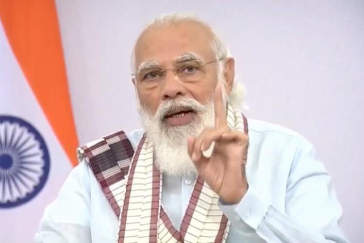 Prime Minister Narendra Modi during a national address