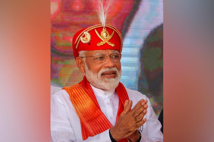 PM Modi votes in general election, trumpets national security