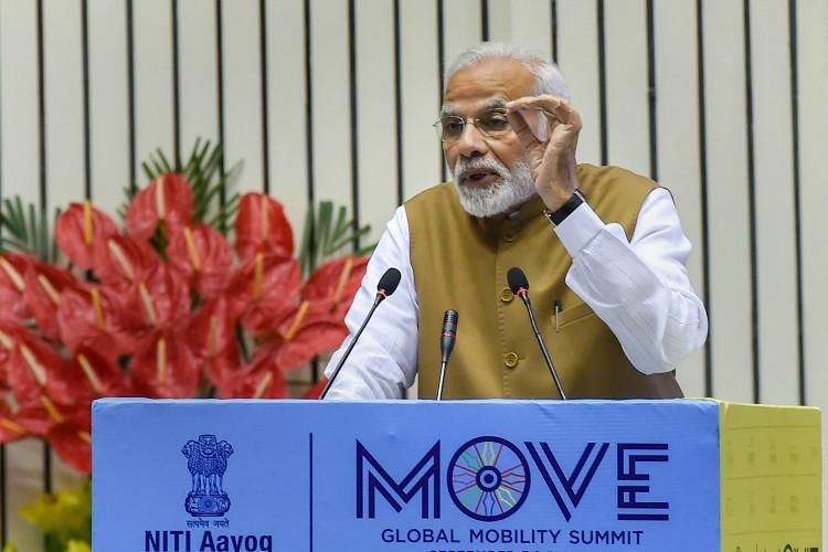 India to soon launch policy to promote e-mobility says PM Modi