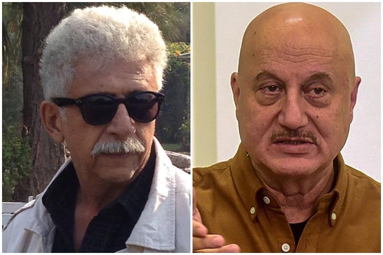 Naseeruddin Shah calls Anupam Kher a clown Kher dubs him frustrated
