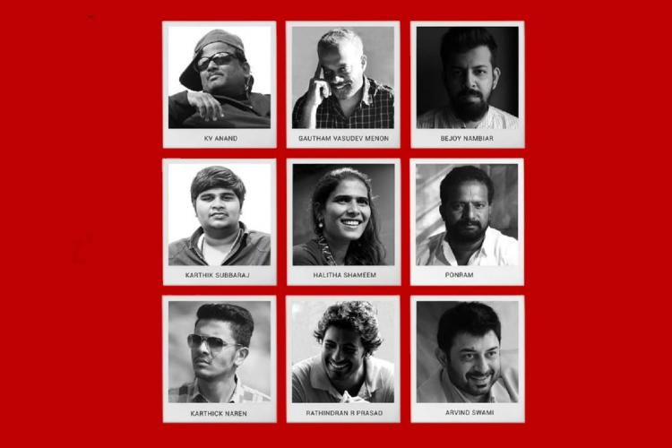 Nine directors of Navarasa seen in the poster of the anthology web series