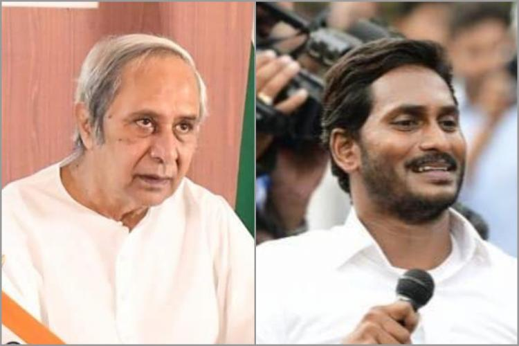 A collage of Odisha CM Naveen Patnaik and Andhra CM YS Jagan