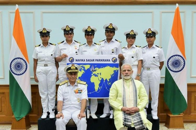 Around the world in 8 months All-women crew of the Indian Navy sets off to face rough seas