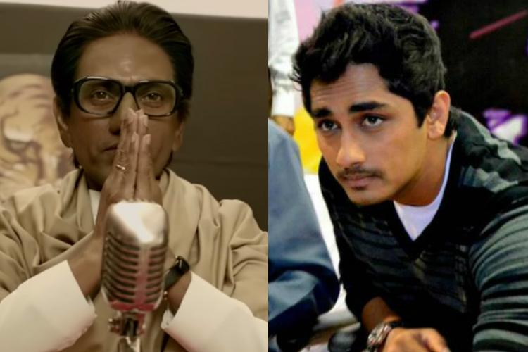 Hate speech against south Indians in Thackeray biopic trailer actor Siddharth objects