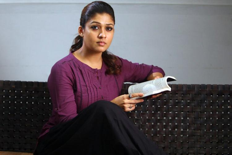 Nayanthara in a purple top