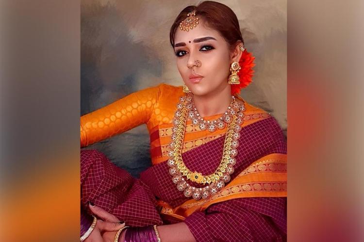 Nayanthara lookalike by make up artist kannan raajamanickam look from Viswasam