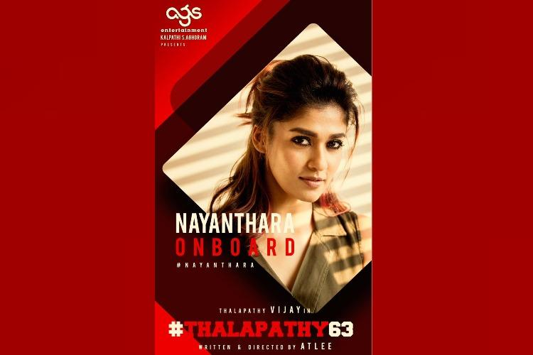 Nayanthara roped in for Vijays next with Atlee