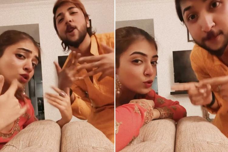 Nazriya and brother naveen dancing to enjoy enjaami