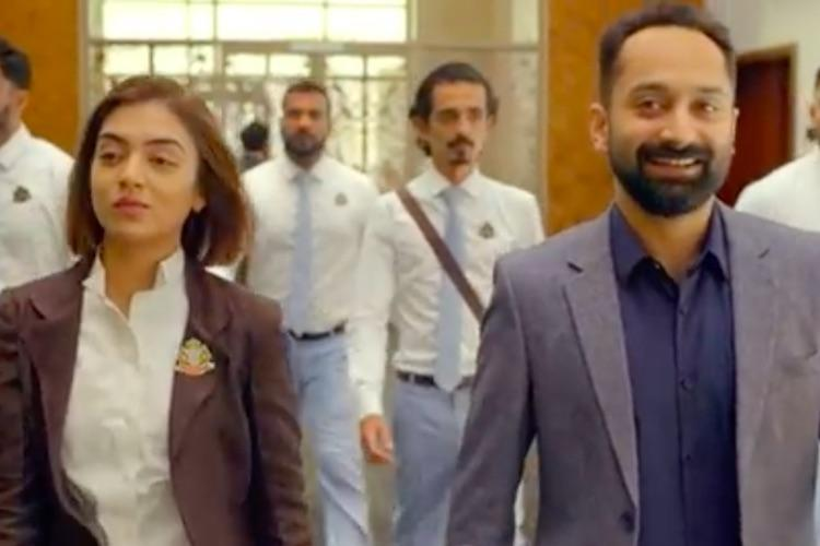 Watch Fahadh Faasil and Nazriya back on screen together in Trance song