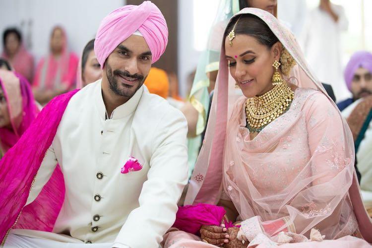 In pics Actor-model Neha Dhupia marries Pink star Angad Bedi