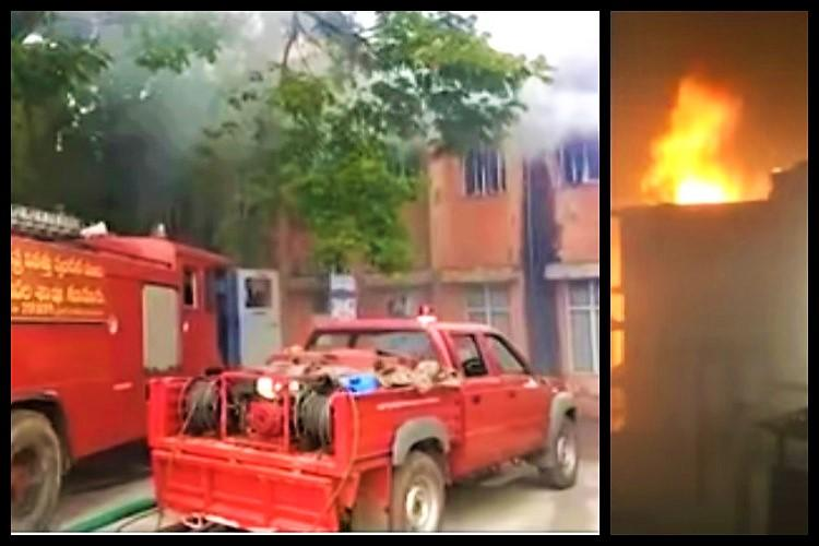 Fire breaks out at Nellore hospital no causalities as fire personnel douse flames