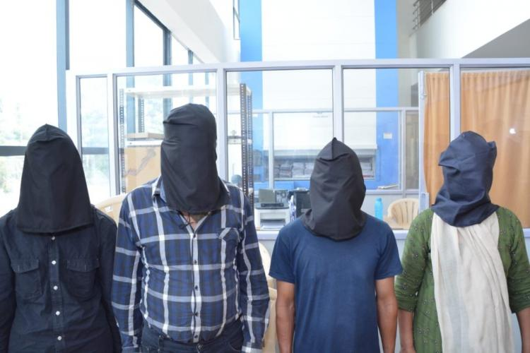 Four of the accused Nepali nationals in the Nacharam robbery case
