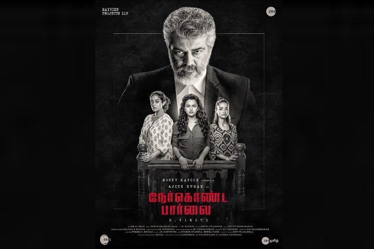 Ajith's next is 'Nerkonda Paarvai', the Tamil remake of 'Pink'