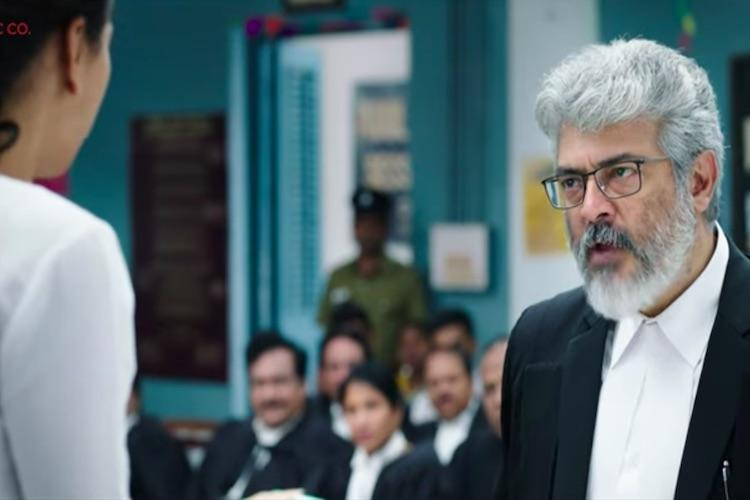 Thala Ajith's Ner Konda Paarvai trailer from today!
