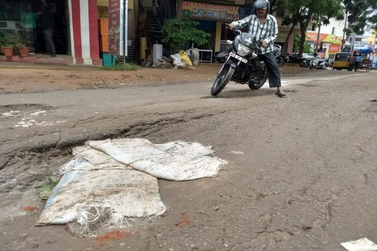 Pothole-ridden and waterlogged roads taking a toll on residents of Hyderabads Kapra