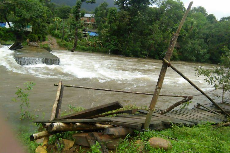 Raging river collapsing bridges For 8 days this Kerala village has been marooned