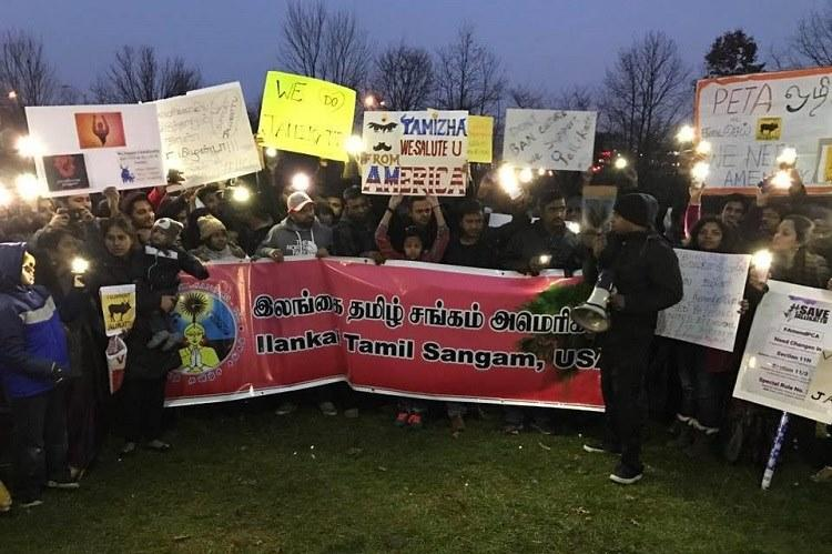 A quest for identity beyond borders US Tamils show solidarity with Marina protesters