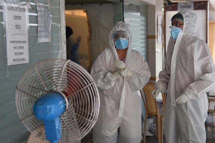 Frontline workers amid the coronavirus pandemic in India