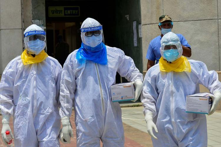 Frontline workers amid the coronavirus pandemic in India