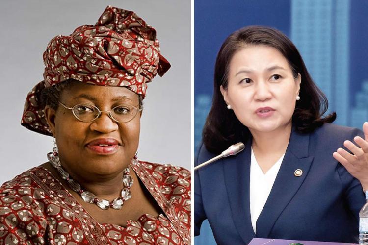 Ngozi Okonjo-Iweala of Nigeria and Yoo Myung-hee of South Korea