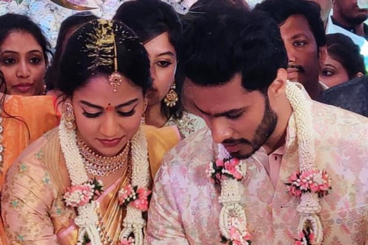 Nikhil Kumaraswamy engaged to former Cong mins grandniece Revathi in Bengaluru