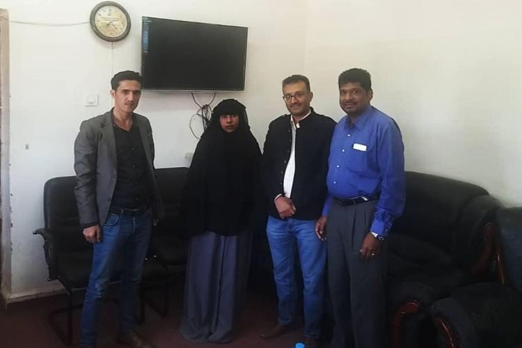 Nimishapriya in Yemen jail with Embassy officials and representative of action council