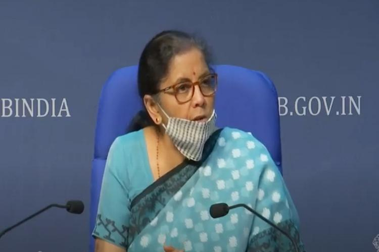 FM Nirmala Sitharaman while announcing the first tranche of the economic package