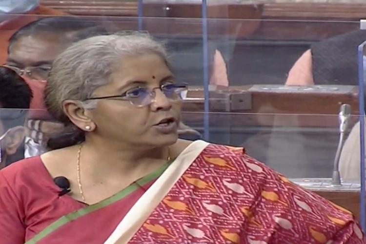 Finance Minister Nirmala Sitharaman presents the Union Budget 2021 session on Monday