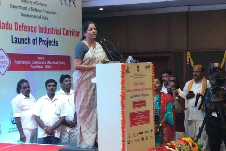 Modi fulfilling MGR-Ammas dreams Nirmala Sitharaman on Defence Corridor in TN