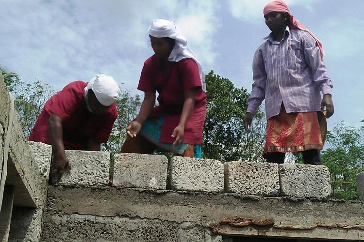 Brick by brick This all-women group in Kerala is toiling to build their first home