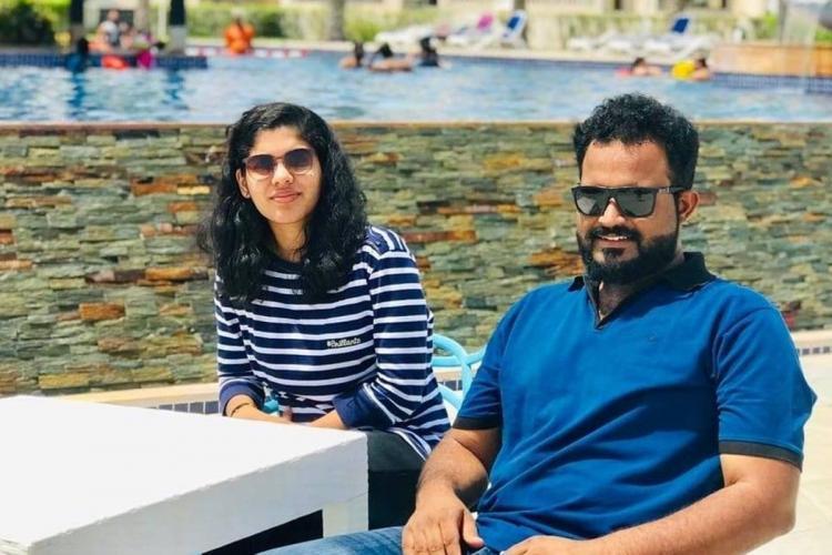 Nithin Chandran and Athira Geetha Sreedharan in Dubai