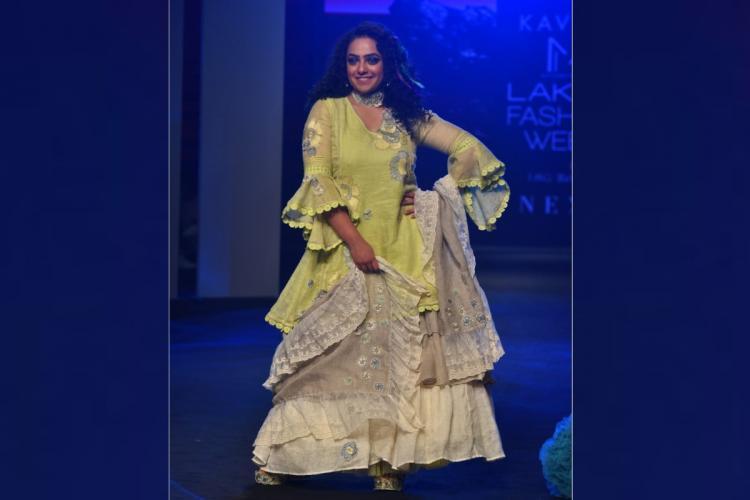Nithya Menen Lakme Fashion Week ramp