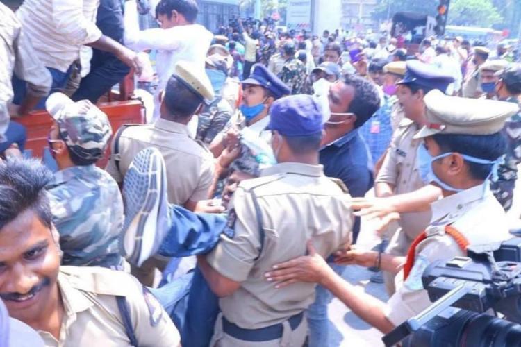 Farmers demand reopening of Nizam Sugar Factory before Telangana Assembly detained