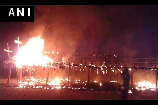Makeshift church burnt down in Telangana TRS MP Kavitha says it looks more like accident