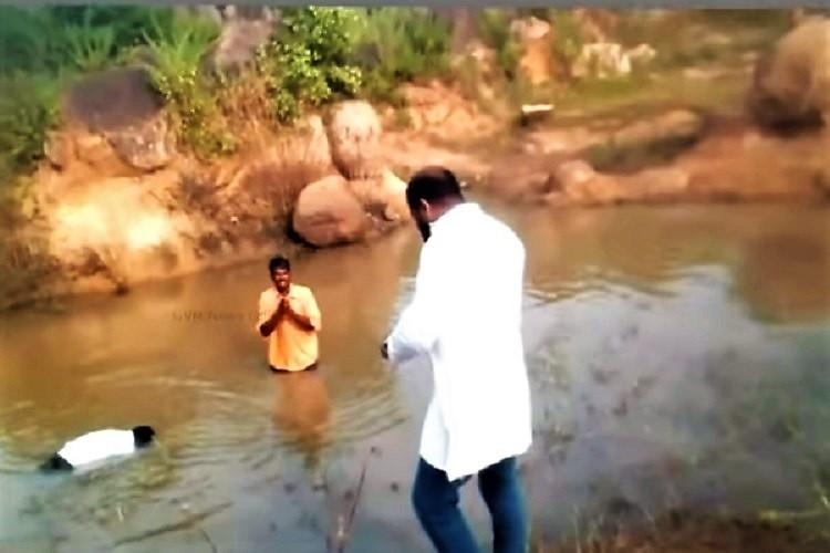 2 Dalits punished in Telangana allegedly by BJP man forced to dip in muddy water