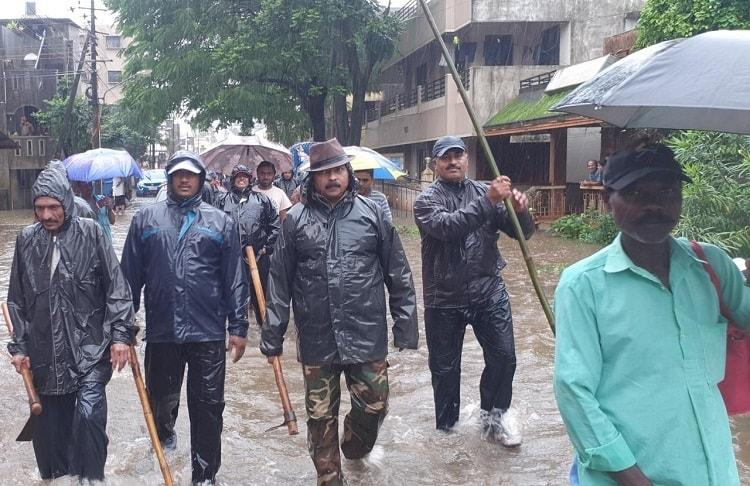 Over 10000 people evacuated from flooded homes in north Ktaka 53 relief camps set up