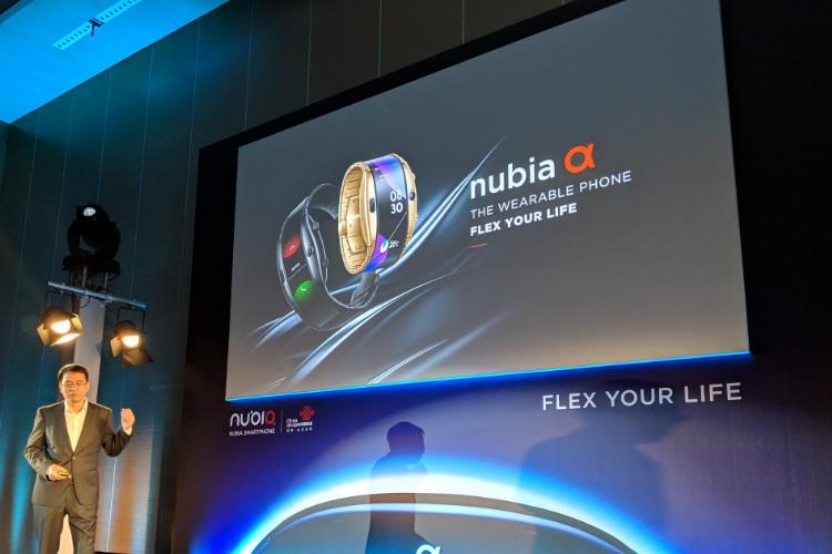 Nubia showcases wearable flexible smartphone with wrap-around screen at MWC 2019