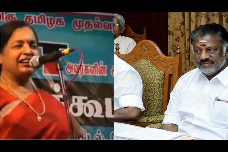 AIADMK spokesperson CR Saraswathi screams as OPS rebels calls him Vadivelu