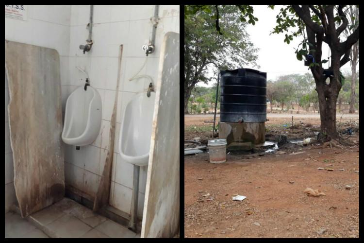 In 100 years Osmania University hasnt made good toilets Students forced to defecate in open