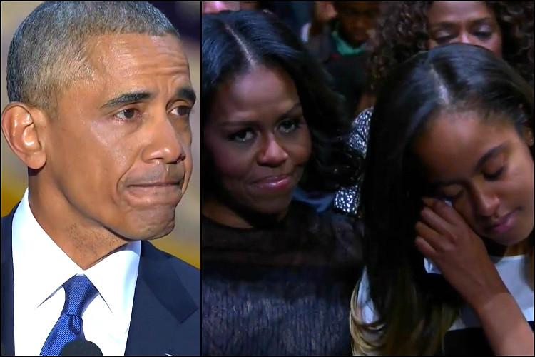 Watch Barack Obama moves Michelle Malia to tears in an emotional farewell address