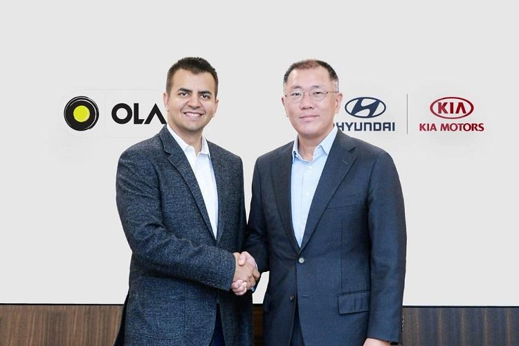 Hyundai and Kia Motors invest 300 million in Ola to develop smart mobility solutions