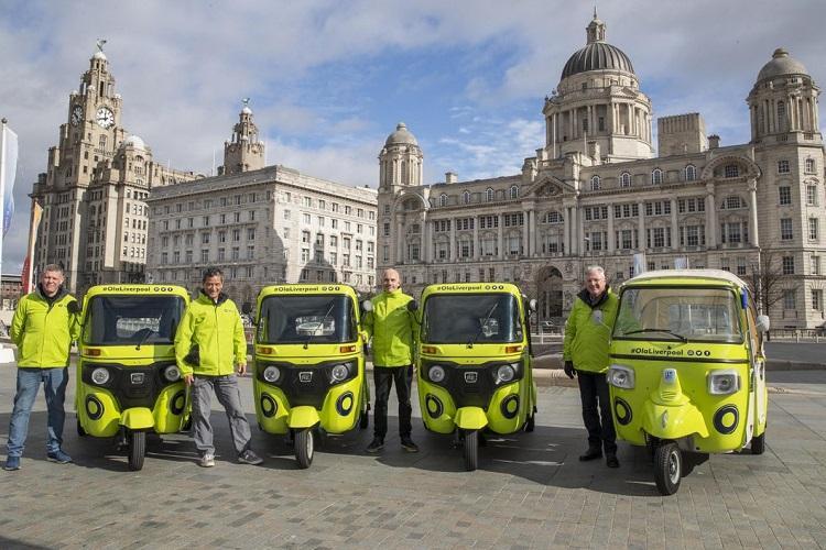 Ola autos in Liverpool Company launches fleet of Bajaj Piaggio tuk tuks in the UK